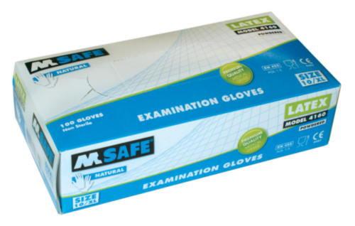 M-SAFE GANT LATEX 4160 100PC, 9/L