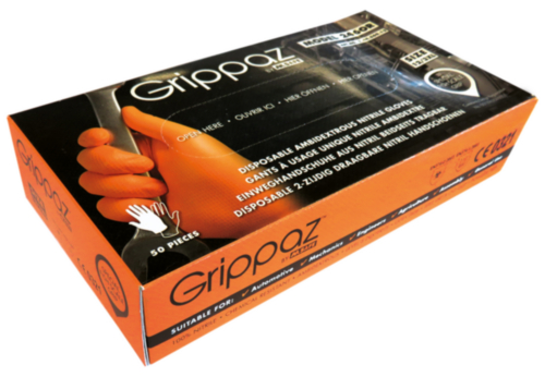 M-Safe Disposable gloves Nitrile GRIPZ 246OR SIZE XXL