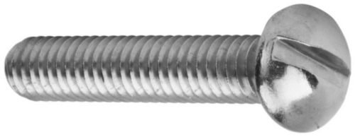 Machine screw round head slot UNC asme B18.6.3 ASME B18.6.3 Stainless steel A2 (AISI 304/18-8) #8-32X7/8