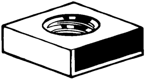 Square thin nut DIN 562 Stainless steel A2