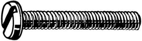 Vis à tête cylindrique fendue DIN 85 DIN 85 Acier inoxydable (Inox) A2