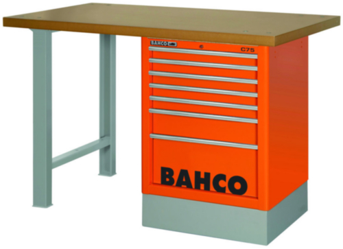 BAHC MDF TOP WORKBENCH RED 8T 150CM