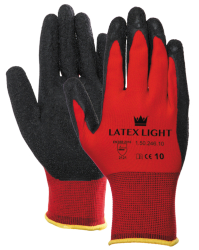 LATEX LIGHT GANT NOIR/ROUGE 8