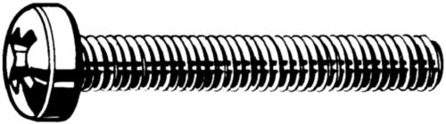Vis à tête cylindrique à empreinte cruciforme Phillips DIN 7985-H Acier Electro zingué 4.8 Grand conditionnement M2X6