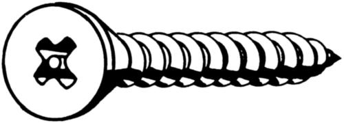 SECURITY Verzonken plaatschroef met kruisgleuf met pin DIN 7982 C-H Roestvaststaal (RVS) A2