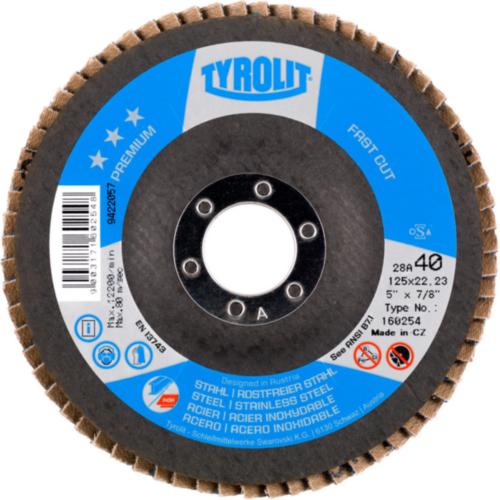 Tyrolit Disque à lamelles 160256 125X22,2 ZA80-B K 80