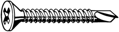 Spedec Zelfborende verzonken schroef met kruisgleuf DIN 7504 O-H Staal Elektrolytisch verzinkt grootverpakking