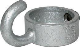 Collar with hook type 182 Żeliwo Ocynkowane na gorąco