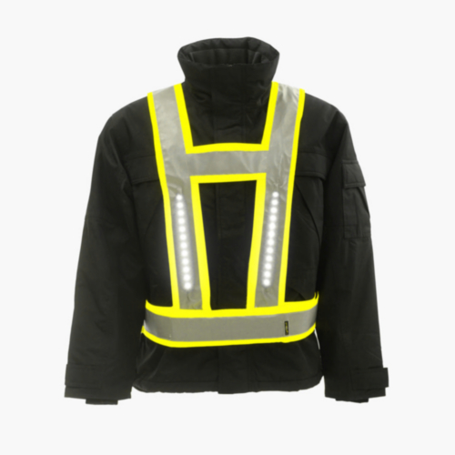 Light-Vest High visibility LED light vest Basic V-shape Fluorescent yellow S/XL