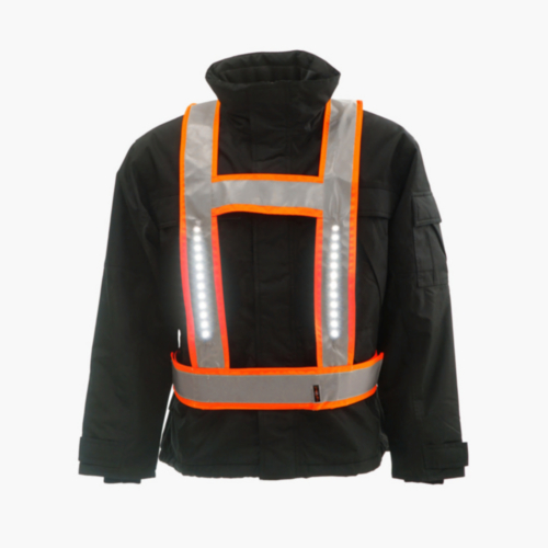Light-Vest High visibility LED light vest Backlight RWS H-shape Fluorescent orange S/XL