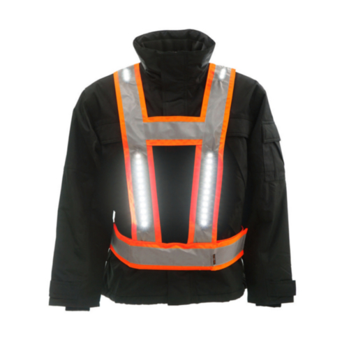 Light-Vest High visibility LED light vest Multi Pro RWS V-shape Fluorescent orange S/XL