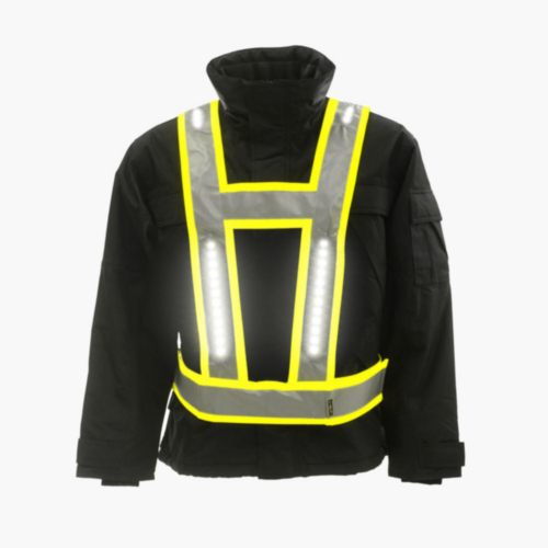 Light-Vest High visibility LED light vest Multi Pro V-shape Fluorescent yellow S/XL