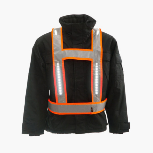Light-Vest High visibility LED light vest Multi Pro RWS H-shape Fluorescent orange S/XL