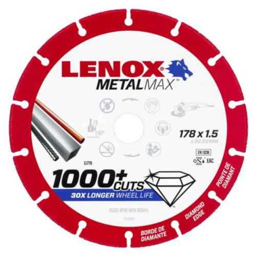 Lenox Cutting wheel 178X1.5X22.2MM