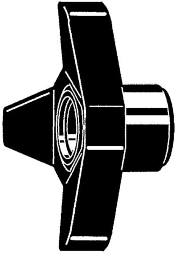 Triangular star knobs