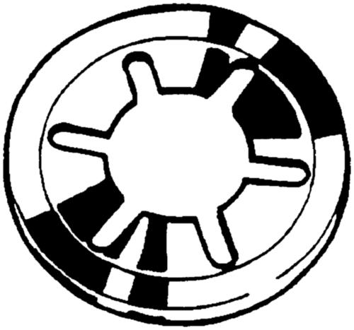 Snelborger voor assen (zonder kap) Roestvaststaal (RVS)