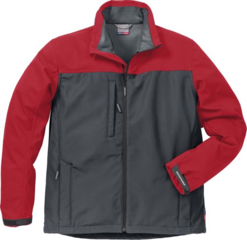 Fristads Kansas Softshell jacket 4119 SSR 113930 Grey/Red XXL