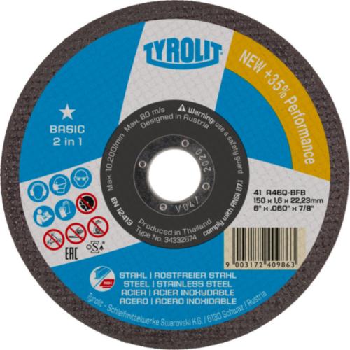 Tyrolit Disc de tăiere 222998 125X2,5X22,2MM