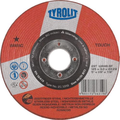 Tyrolit Szlifowanie dysk 236319 125X3X22,2