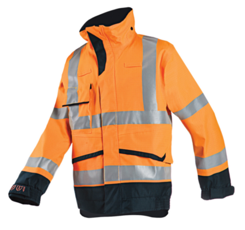 Sioen Jacket Talbot 7252 Fluorescent orange/Navy blue S