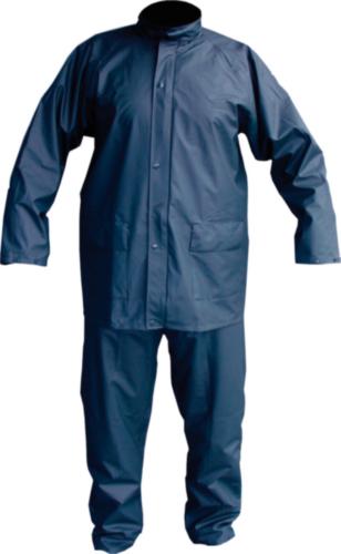 Regenpak PU Stretch Marineblauw XL