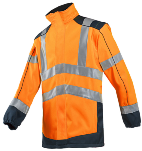 Sioen High visibility softshell jacket Drayton 167A Fluorescent orange/Navy blue S