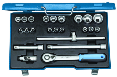 Gedore Socket sets 1/2 6 8-32MM 23PC