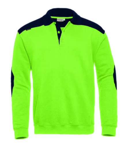 Santino Polo sweater Tesla Lime/Navy blue S