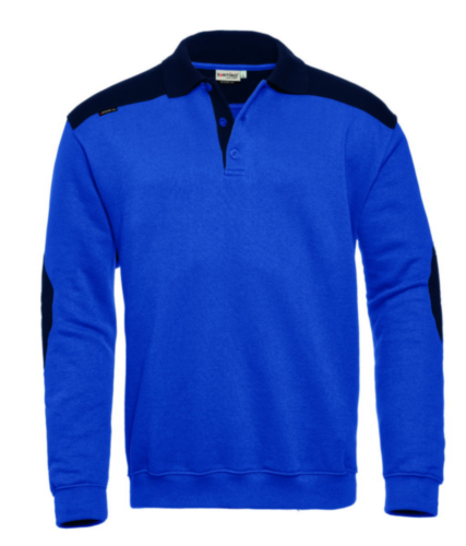 Santino Polo sweater Tesla Cornflower blue/Blue 5XL