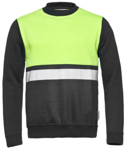 Santino High visibility sweater Helsinki Fluorescent yellow/Grey 5XL