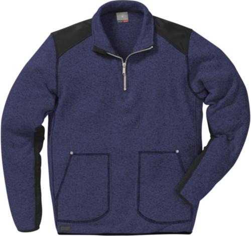 Fristads Kansas Fleece sweater 114031 Navy blue/Black XXL
