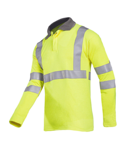 Sioen Not flame entertaining clothing Ruapo 3142 Fluorescent yellow SIZE L