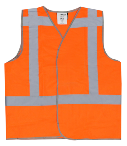 M-Wear High visibility traffic vest 0177 Fluorescent orange XL/XXL