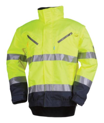 Sioen Hoge zichtbaarheid vest Campbell 364A 364A Fluorescerend geel/marineblauw XXL