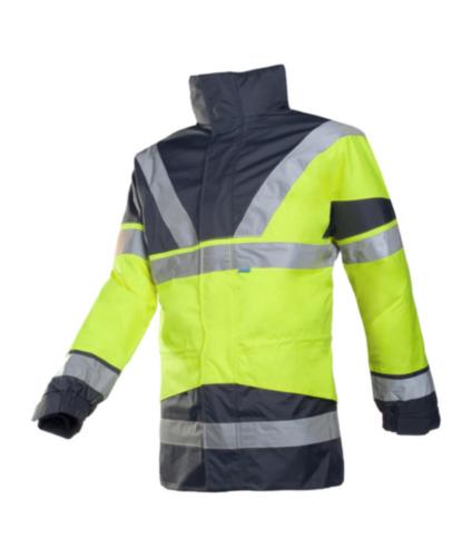 Sioen Hoge zichtbaarheid parka Skollfield 209A 209A Fluorescerend geel/marineblauw L