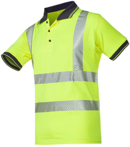Sioen High visibility polo shirt Tiola 3881 Fluorescent yellow XXL
