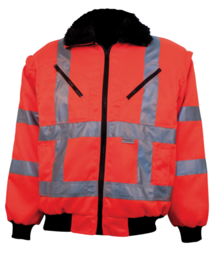 M-Wear High visibility pilot jacket 0966 Fluorescent orange XL