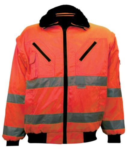 M-Wear Hoge zichtbaarheid pilotjack 0976 0976 Fluorescerend oranje XXL