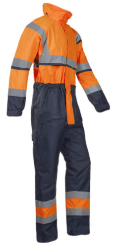 Sioen High visibility coverall Cabin 440A Fluorescent orange/Navy blue M