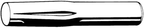 Insteekkerfpen DIN 1474 Roestvaststaal (RVS) A1