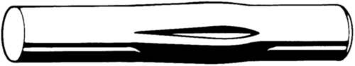Gaffelkerfpen DIN 1475 Automatenstaal