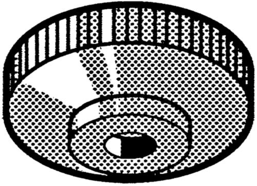 Rýhovaná ruční matice Plast Polyamid (nylon) 6.6