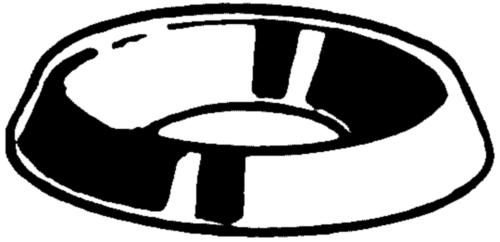 Anilha concava modelo aberto Latão 4,0MM