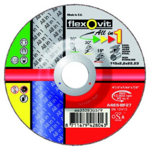 Flexovit Grinding disc A46S 125X2,2X22,23