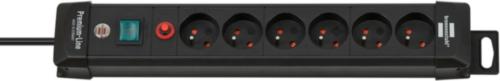 BREN EXT.SOCKET 6-W 3M H05VV-F 3G1,5 FR