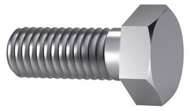 Hexagon head screw DIN 933 Steel Zinc flake Cr<sup>6+</sup>free - ISO 10683 flZnnc 10.9 M6X12