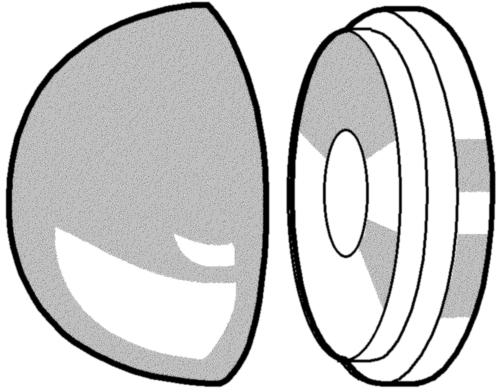 Snap-afdekkap voor schroeven Kunststof Polyamide (nylon) 6.6
