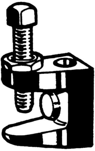 Flensklem  Smeedbaar gietijzer  Elektrolytisch verzinkt  FL