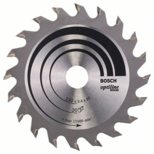 Bosch Kreissägeblatt OPTILINE 130X16 20T