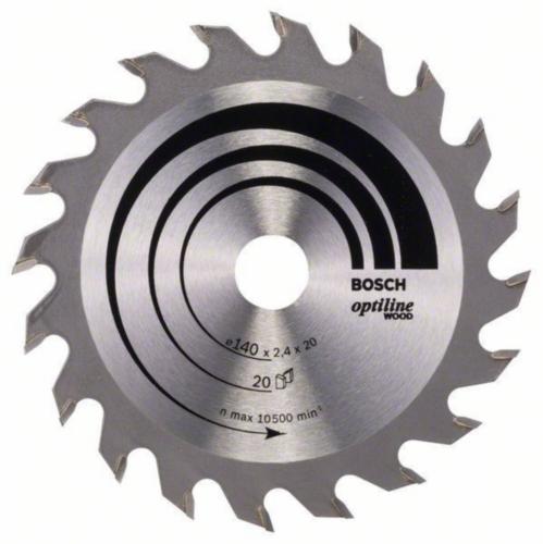 Bosch Circular saw blade OPTILNE 140X12.7 20T